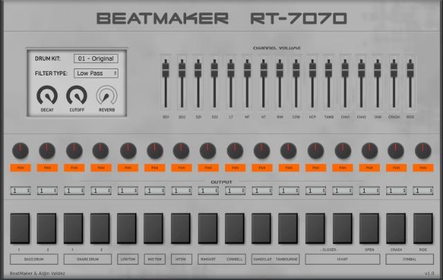 免费的 Roland TR-707 鼓机插件版下载