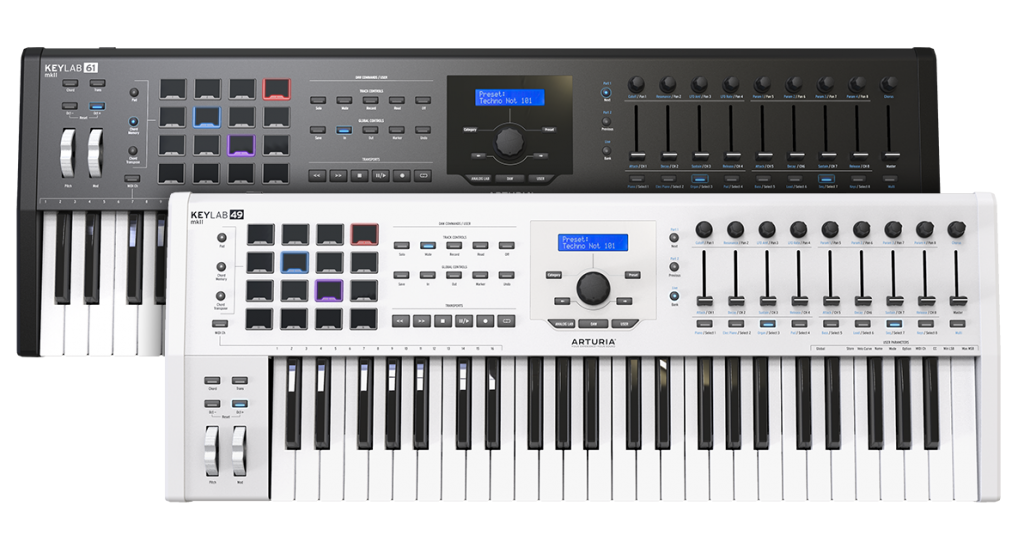 Arturia 发布 KeyLab MkII 49键和61键MIDI键盘控制器(视频)