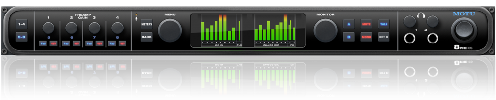 MOTU 发布最新带有八麦克风预置的音频接口8pre-es