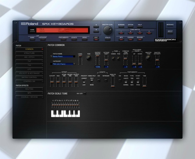 罗兰云(Roland Cloud)增加全新SRX KEYBOARDS(SRX键盘)合成器