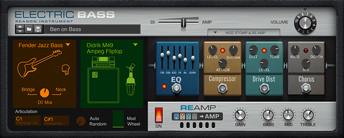 Reason 发布 Electric Bass(电贝司)机架扩展(视频)