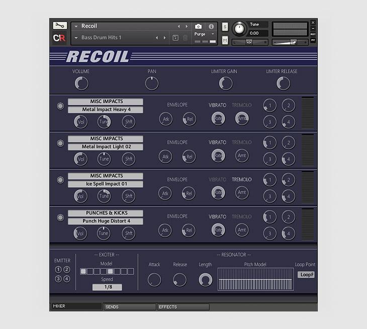 Recoil,用于Kontakt下的音色设计工具