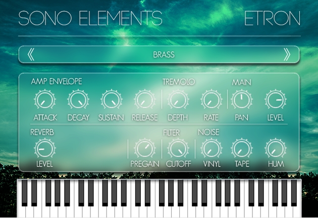 Sono Elements发布eTron,Mellotron键盘的仿真插件