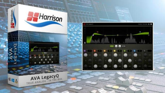 Harrison Consoles 推出 AVA LegacyQ 均衡器插件,再现原始的MPC数字均衡器