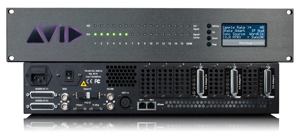 Avid 推出 Pro Tools   MTRX SPQ 扬声器处理卡,用于扬声器校准和低音管理