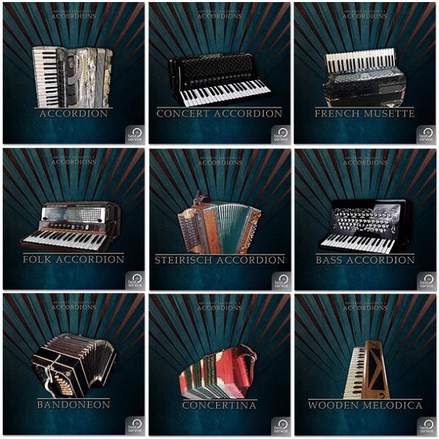 Best Service的手风琴2(Accordions 2)音色库中的乐器可以独立发售