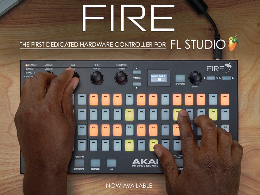 AKAI 和 Image-Line 团队联合推出 FL STUDIO 硬件控制器 AKAI FIRE(视频)