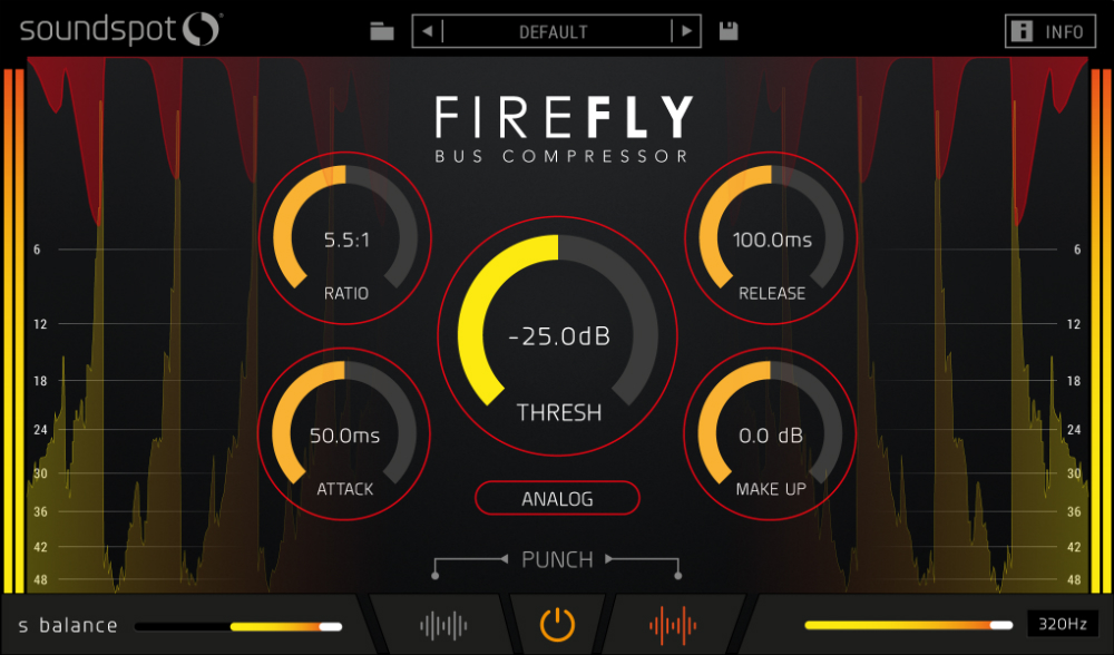 SoundSpot 发布 Firefly Bus Compressor(总线压缩器)