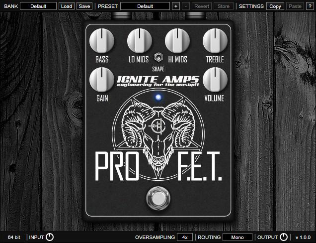 ProF.E.T. — 免费的吉他高增益失真放大器仿真软件下载