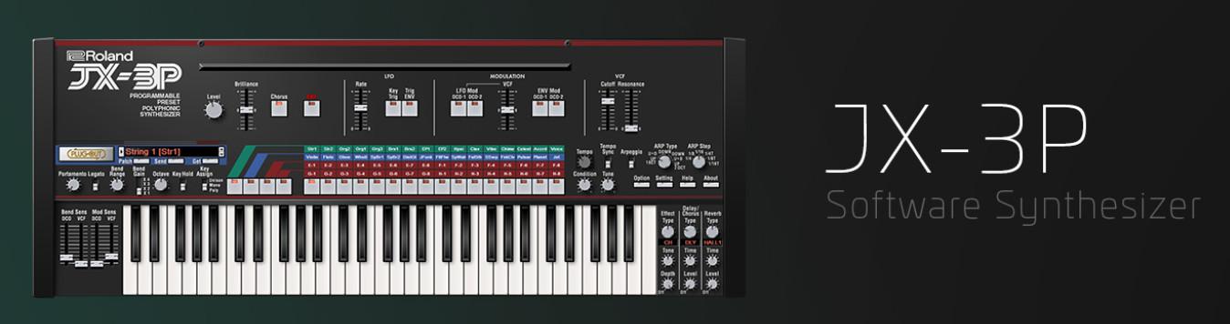 Roland(罗兰)宣布推出虚拟JX-3P合成器云乐器