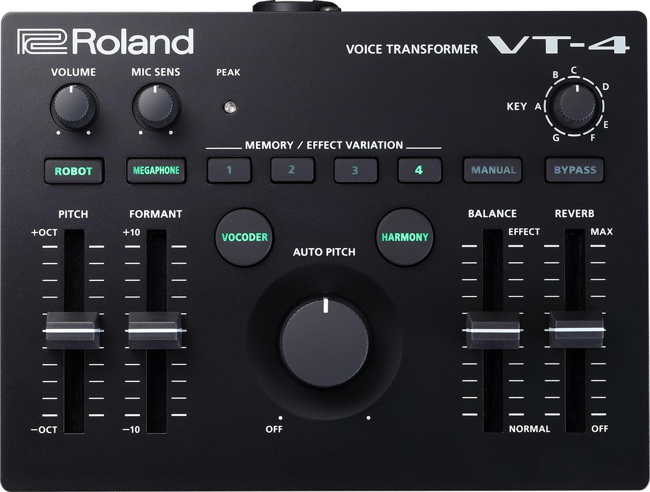 Roland(罗兰)发布 VT-4 人声转换效果器(视频)