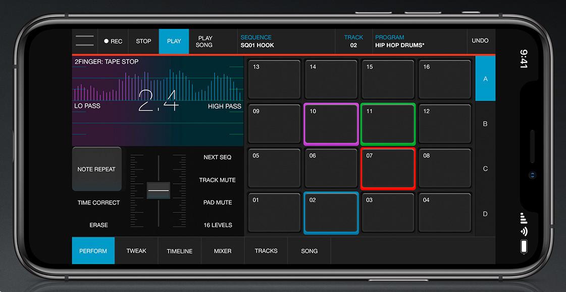 Akai 发布可用于 iPhone的 iMPC Pro 2 移动音乐创作工具(视频)