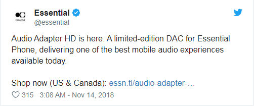 Essential Phone推出模块化耳机孔配件:支持硬件MQA