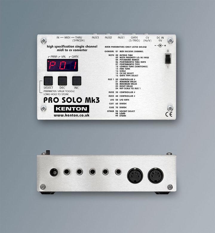 Kenton 宣布推出新版 MIDI-CV 转换器 PRO SOLO Mk3