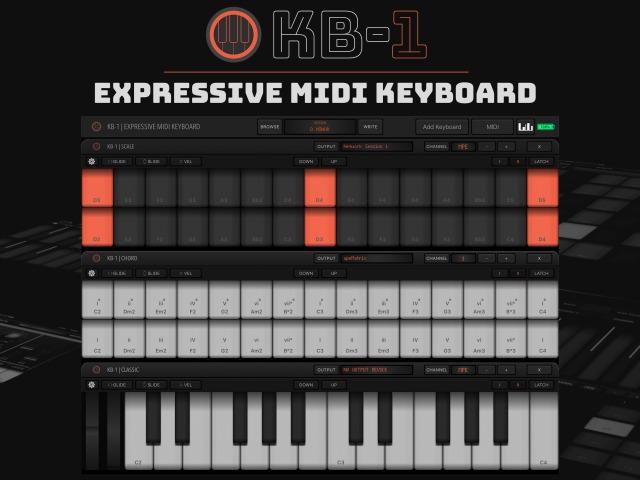 Numerical Audio 发布可用于iOS系统的虚拟MPE MIDI键盘 KB-1