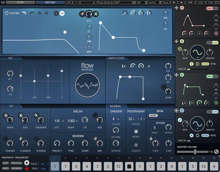 Waves 发布混合FM合成器 Flow Motion FM Synth(视频)