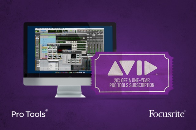 Focusrite 针对用户宣布独家推出 Pro Tools 软件新年优惠