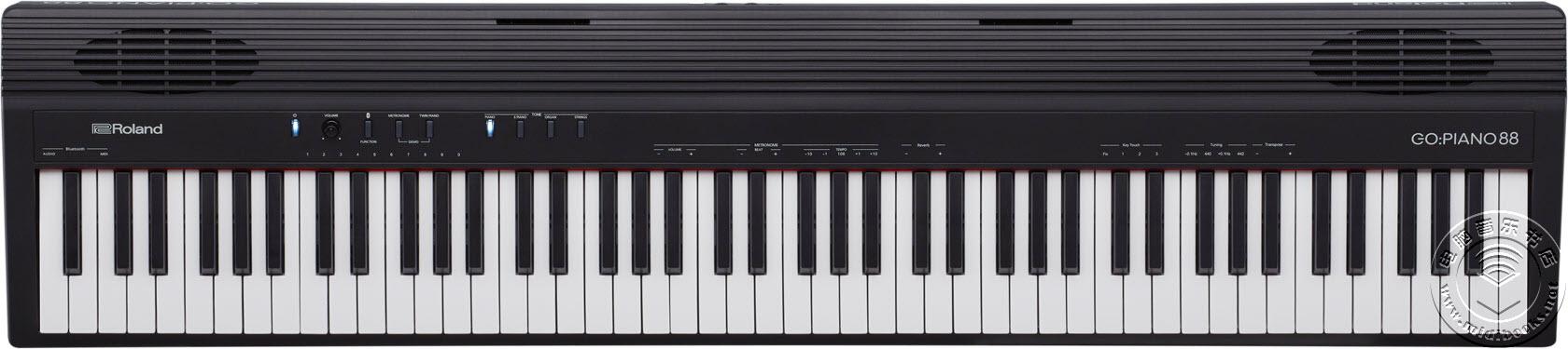 Roland发布最新88键数码钢琴GO:PIANO88,可通过蓝牙连接智能手机