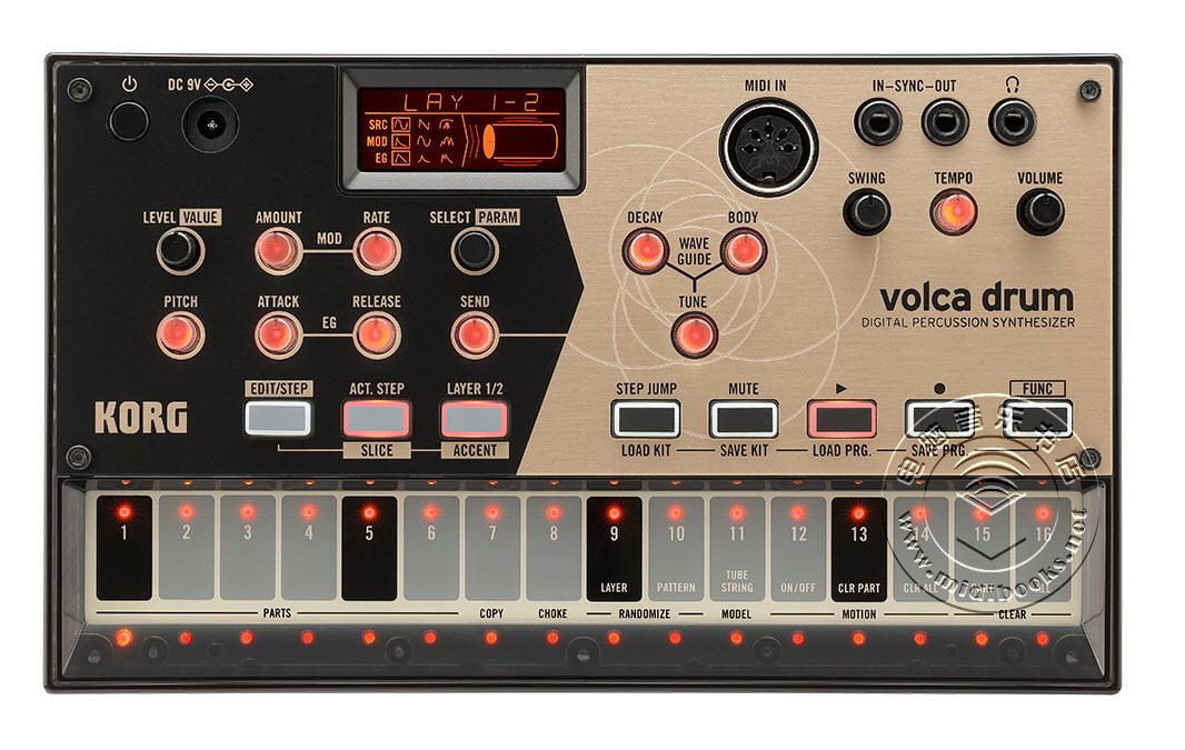 Korg发布Volca Drum — 可放在口袋里的打击乐鼓机(视频)