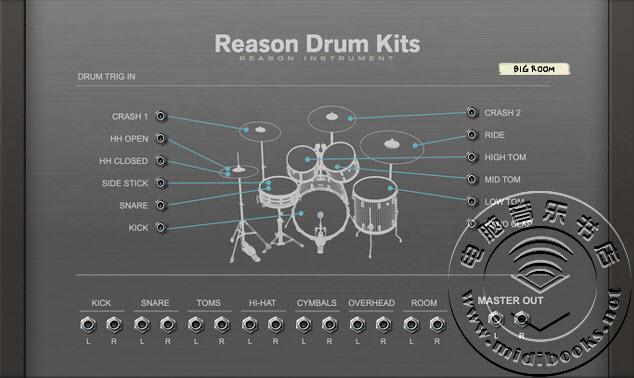 Reason 发布 Drum Kits 打击乐机架扩展(视频)