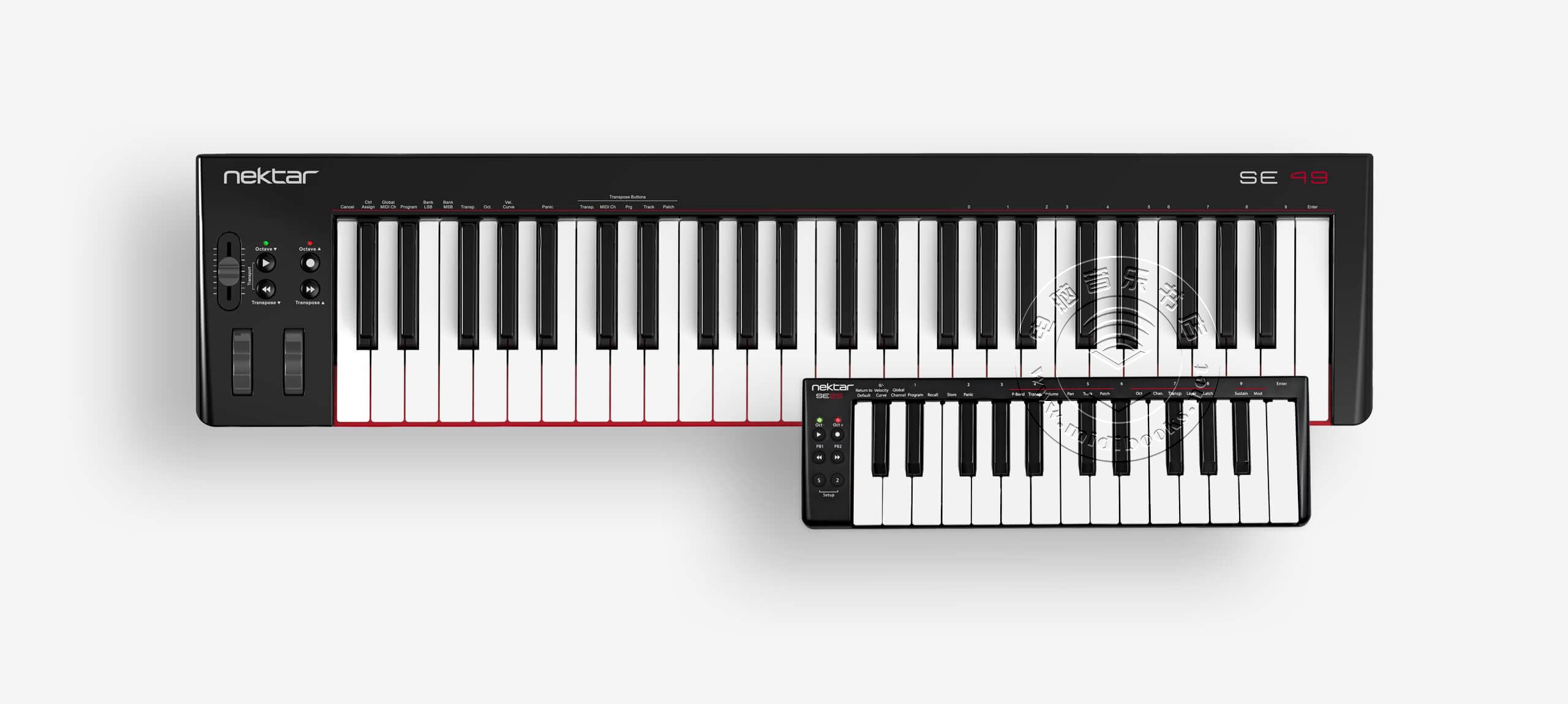Nektar发布带有DAW集成的SE系列MIDI键盘控制器SE25和SE49(视频)