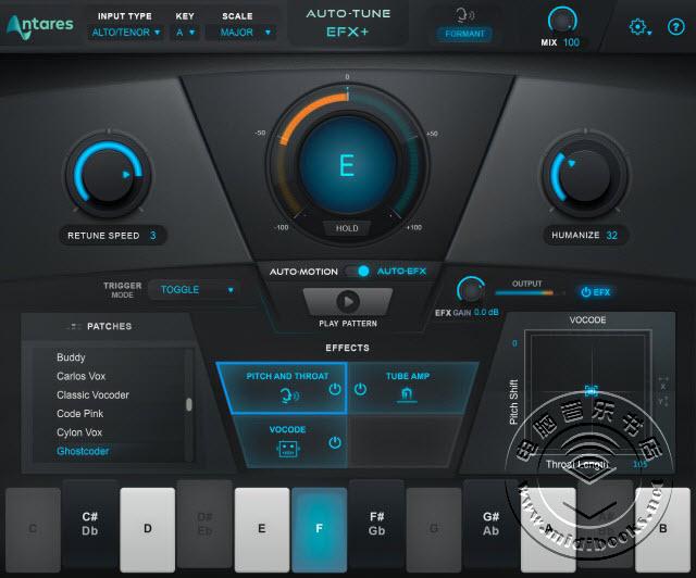 Antares 发布新型人声制作插件 Auto-Tune EFX +