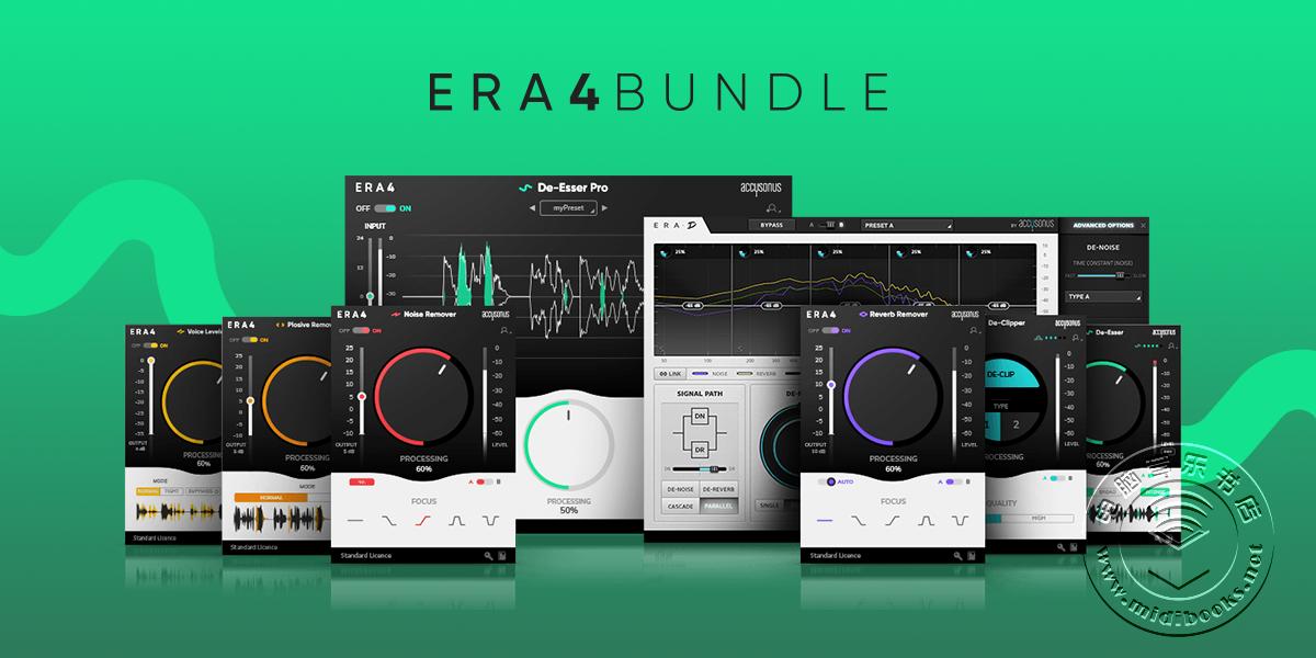 Accusonus 推出智能化一键式音频处理插件套装:ERA 4