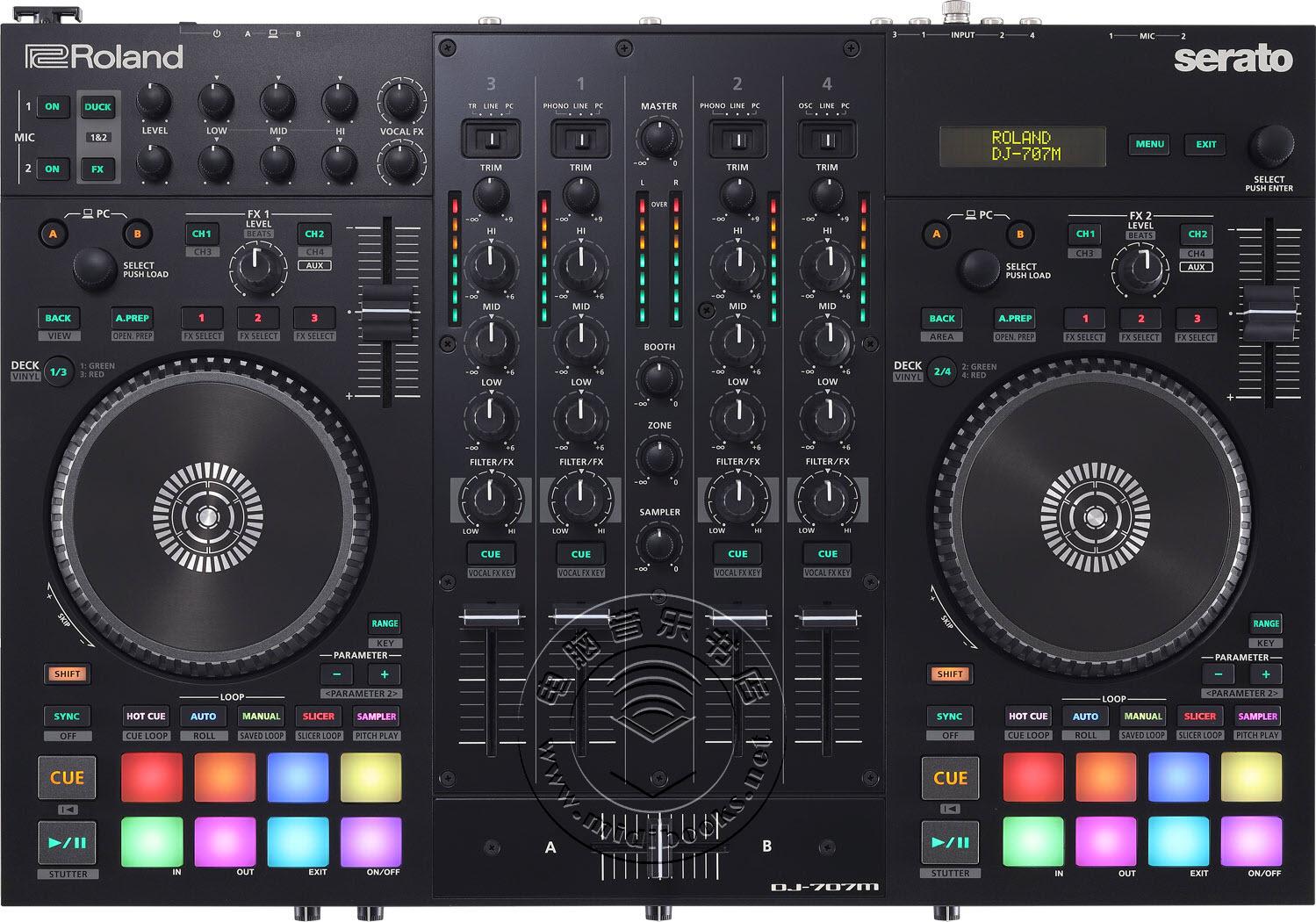 Roland(罗兰)发布新款紧凑型DJ控制器DJ-707M