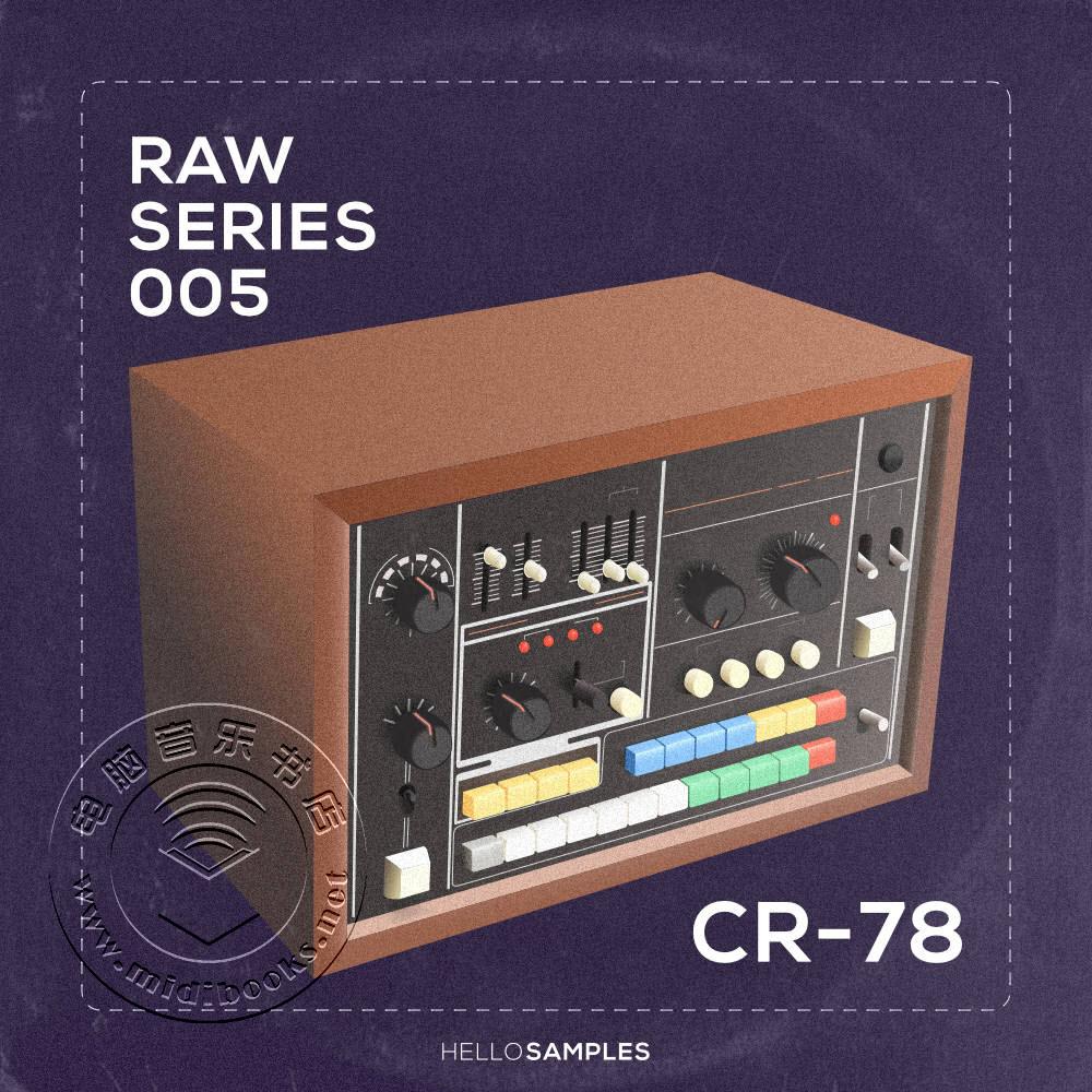 老式Roland CR-78鼓机采样音色包:Raw Series 5(视频)