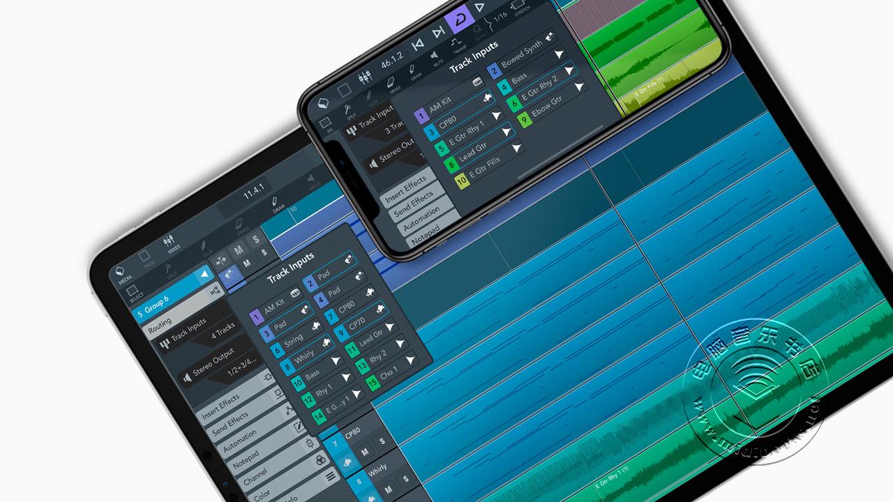 Steinberg(斯坦伯格)发布可用于iPad和iPhone的移动音乐制作软件Cubasis 3