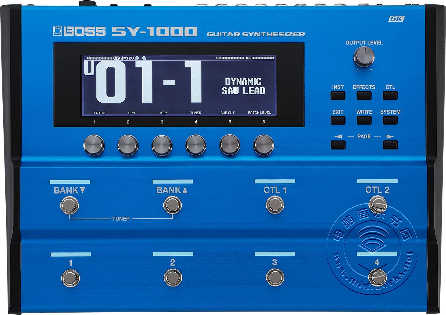 BOSS发布最新SY-1000吉他合成器