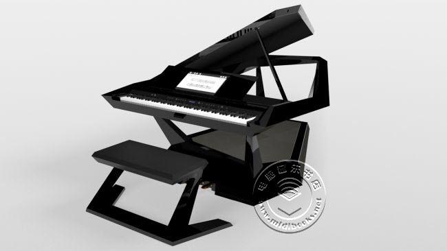 NAMM 2020展会:Roland(罗兰)发布超炫的未来概念三角电钢琴 GPX-F1 Facet(视频)
