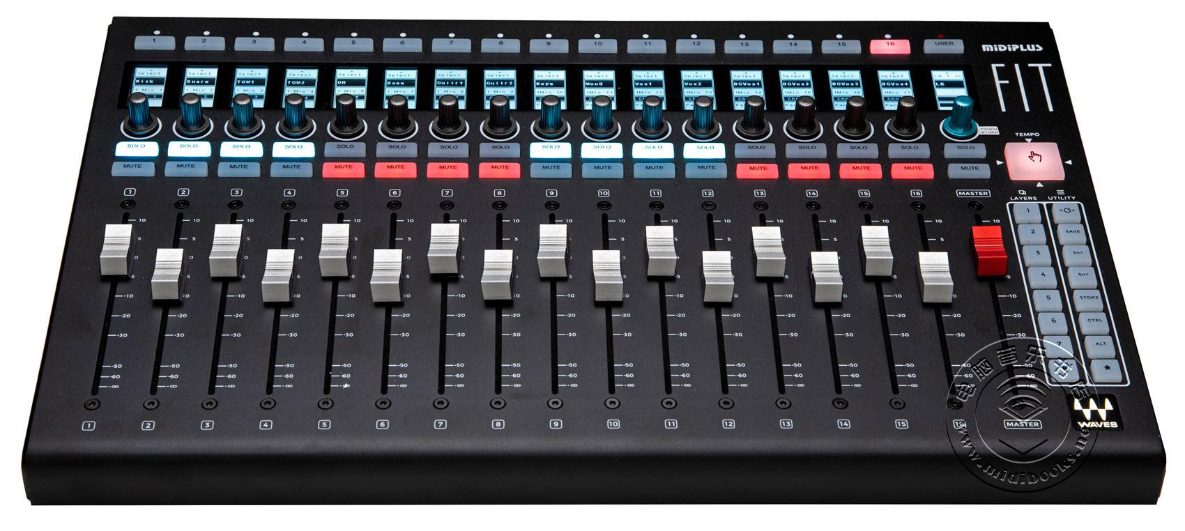 2020年冬季NAMM展会新闻:Waves推出用于eMotion LV1现场调音台的FIT控制器