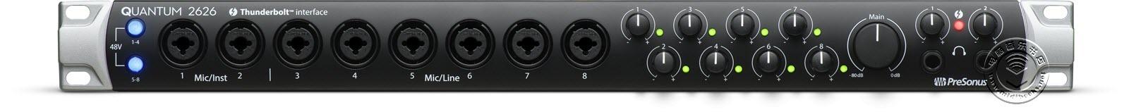 PreSonus发布最新的便携式雷电音频接口Quantum 2626(视频)