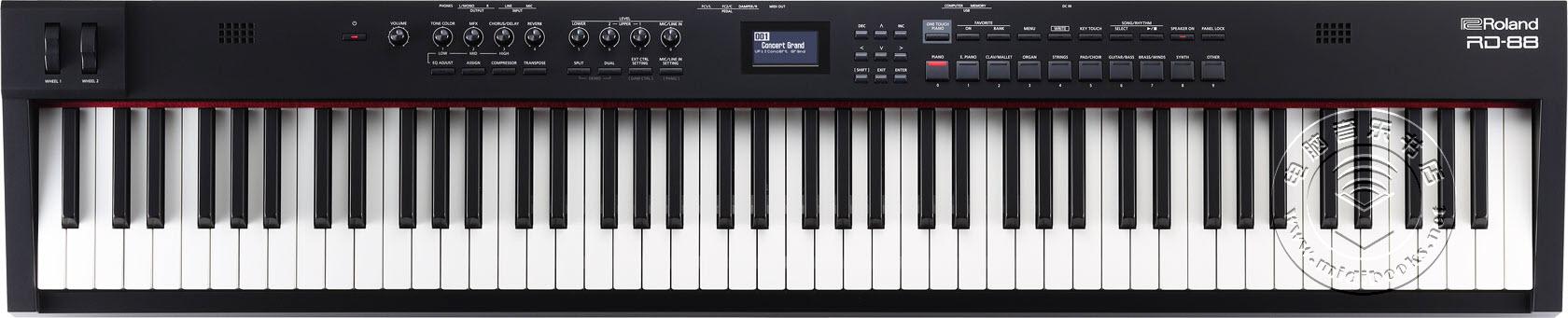 2020年冬季NAMM展会新闻:Roland(罗兰)发布RD-88舞台电钢琴(视频)