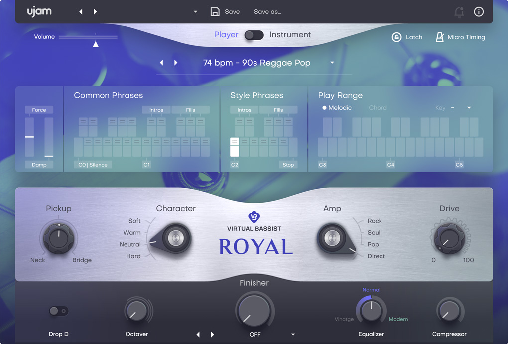 UJAM 发布 Virtual Bassist (虚拟贝斯手)2.0版
