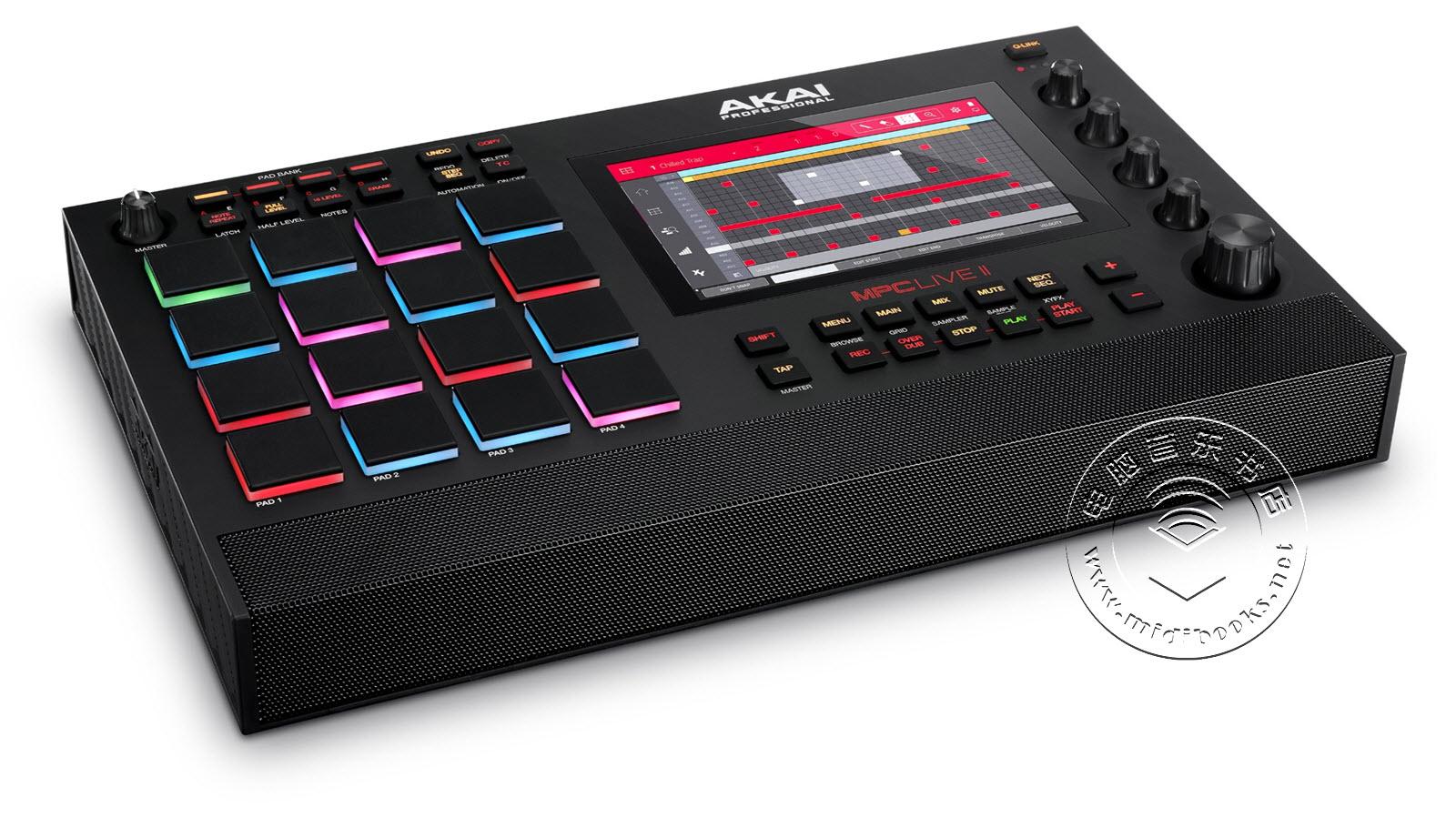 Akai发布内置监听音箱的MPC Live Ⅱ演奏控制器(视频)