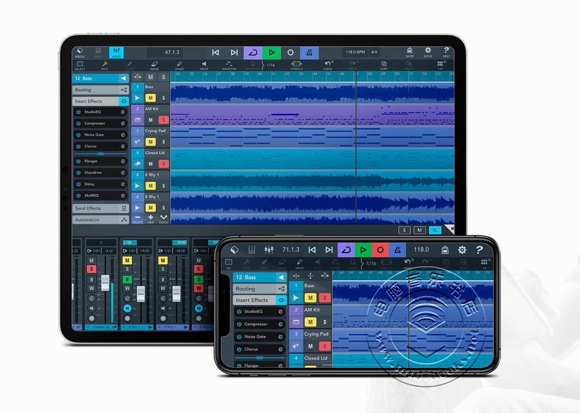 Steinberg(斯坦伯格)的Cubasis 3移动音乐制作DAW软件现在可以用于Android系统了(视频)