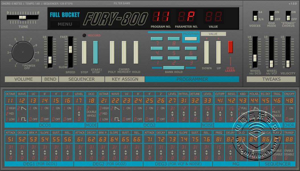 Korg Poly-800复调合成器软音源免费下载