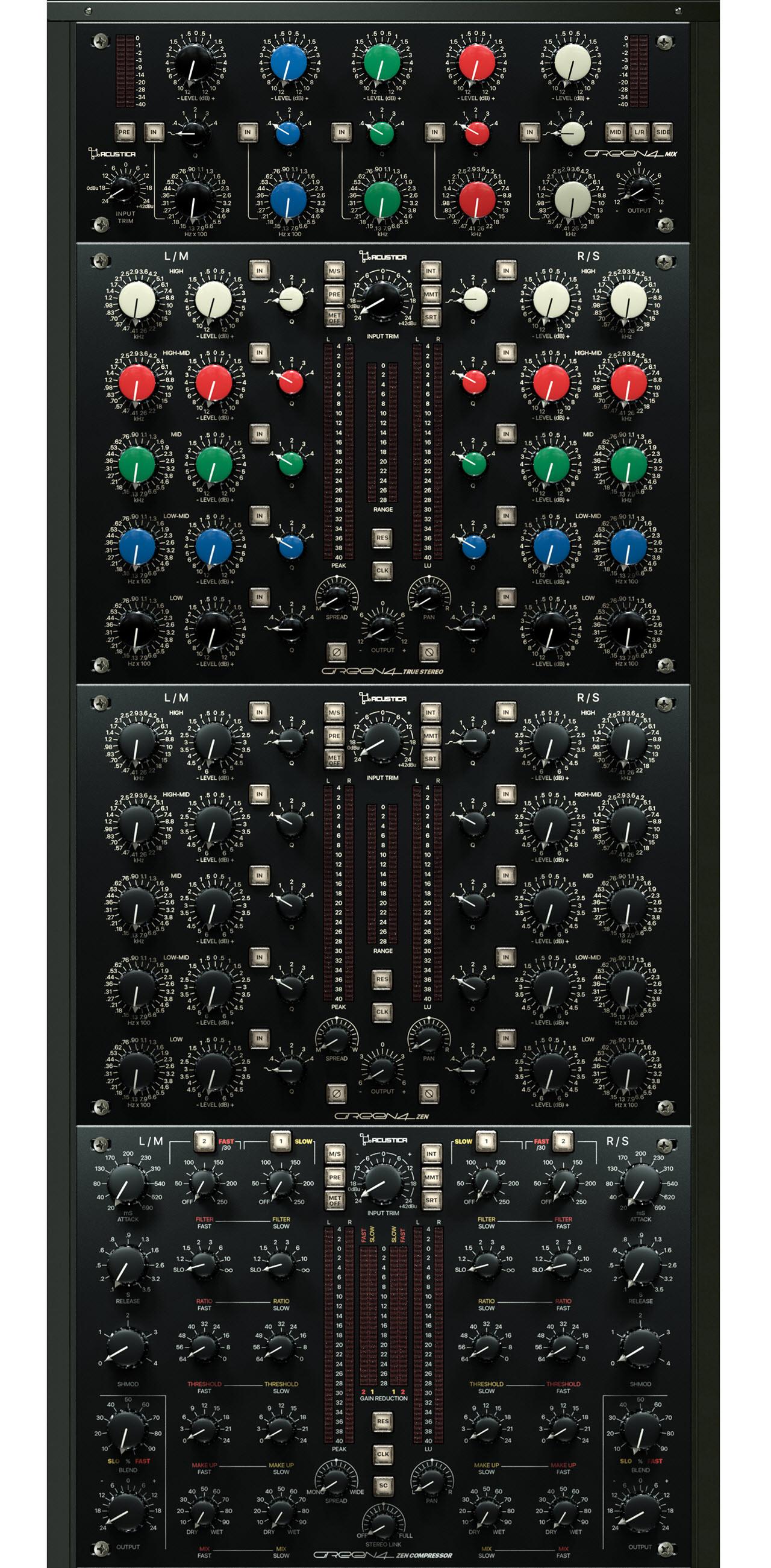 Acustica Audio更新Green 4效果器处理套件