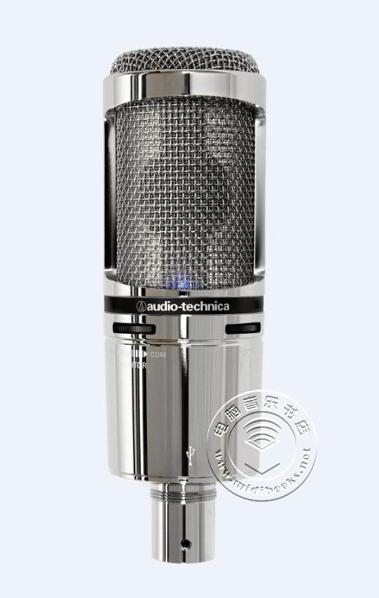 Audio-Technica(铁三角)发布银色限量版AT2020V和AT2020USB+V麦克风