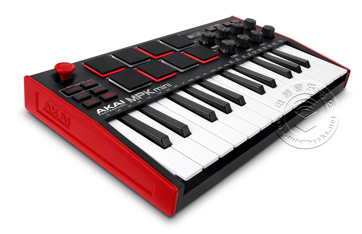 Akai发布MPK mini Mk3 第三代USB MIDI键盘