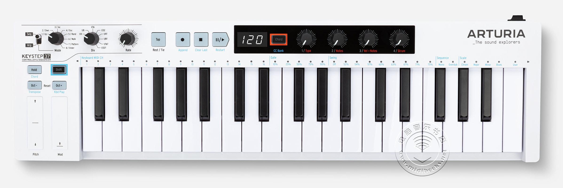 ARTURIA 发布 KeyStep 37 MIDI键盘控制器(视频)