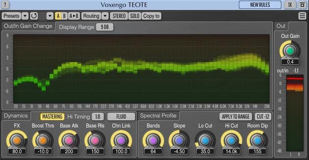 TEOTE,多频段动态处理的自动均衡器插件
