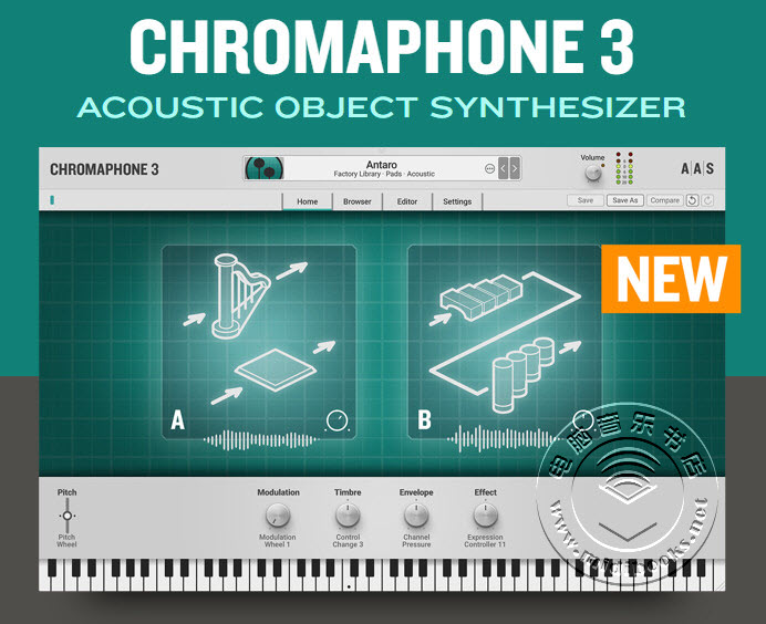 AAS发布新版声学对象合成器 Chromaphone 3