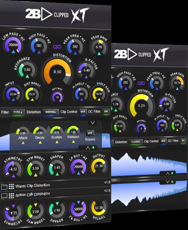 2B Played Music发布用于劲爆舞曲风格的极端失真和剪辑插件2B Clipped XT