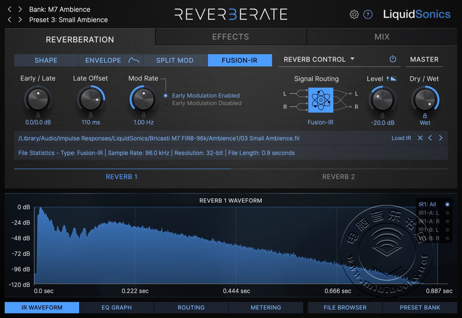 LiquidSonics 发布调制式真立体声回旋混响插件 Reverberate 3(视频)