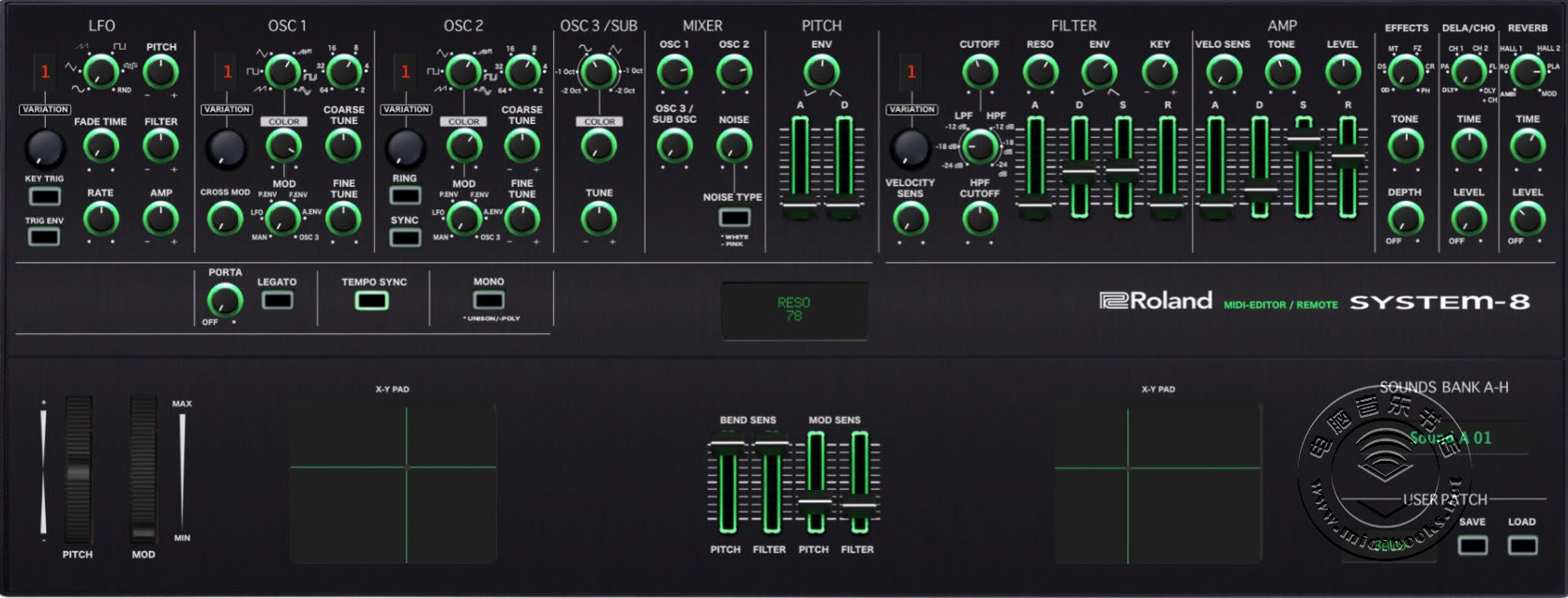 Momo发布可用于Roland合成器的System-8编辑器