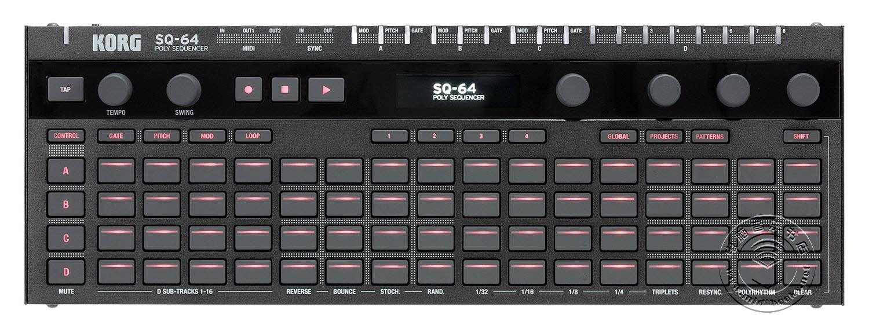 Korg推出SQ-64复调音序器(视频)