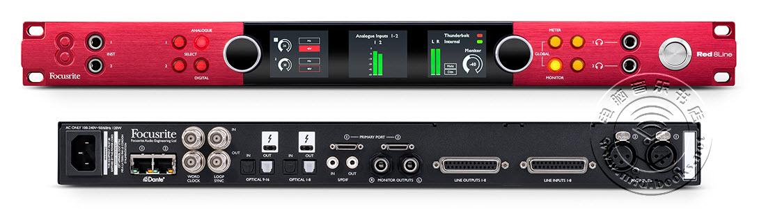 Focusrite发布58进64出Thunderbolt 3音频接口Red 8Line
